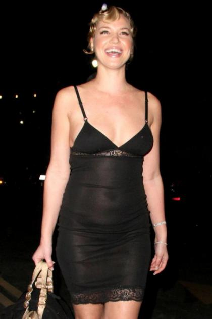 Ashley Scott's see-thru dress