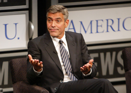 George Clooney Joins Dad at the Newseum