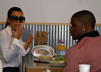 Kim Kardashian and Reggie Bush: Mexican Lunch Date