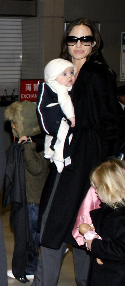Photos of Brad Pitt and Angelina Jolie's twins Knox and Vivienne in Japan