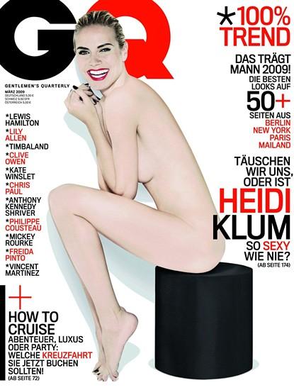 Heidi Klum Naked in German GQ