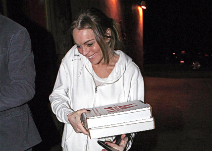 Lindsay Lohan: Pizza Delivery Girl