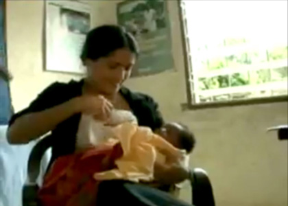 Salma Hayek Breastfeeds Stranger's Baby