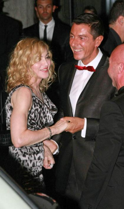 Madonna's Swanky Dinner in Milan