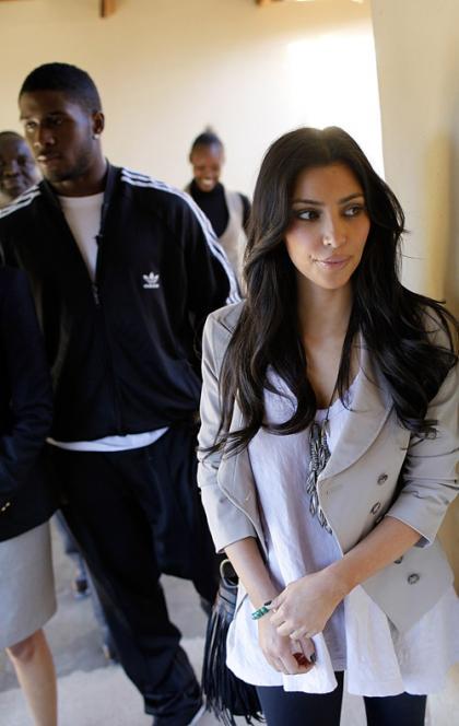 Kim Kardashian and Reggie Bush: Charitable in Botswana