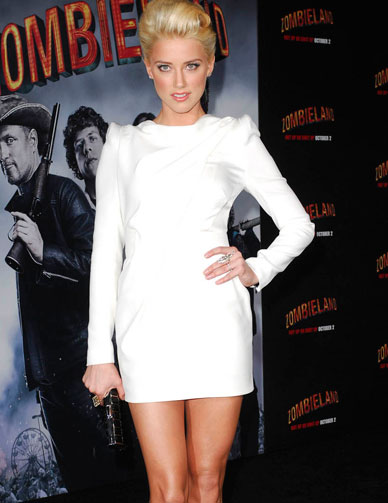 Amber Heard Shows Off Her Sexy Legs
