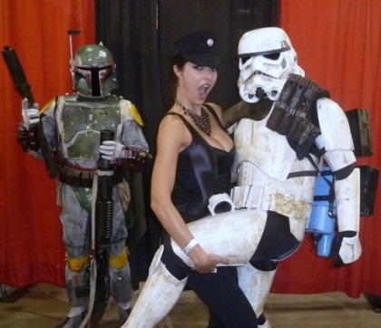 Adrianne Curry at Comic-Con