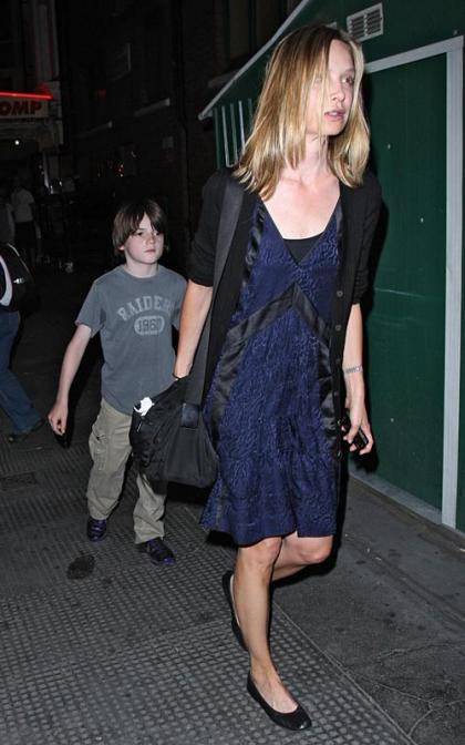 Calista Flockhart: London with Liam