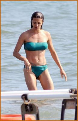 Asia Argento Shows Of Her Bikini Body