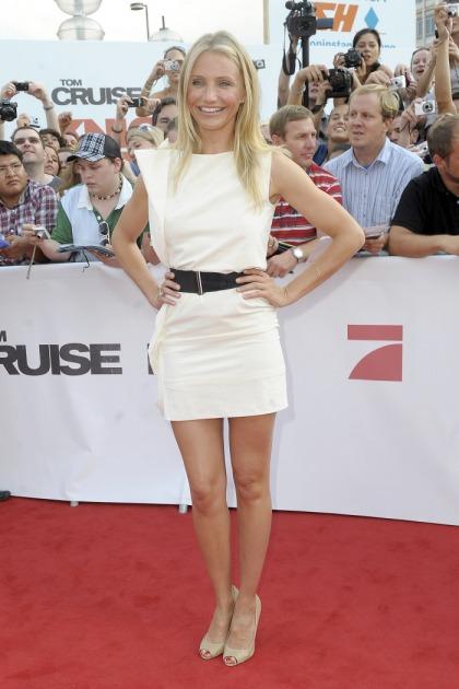 Cameron Diaz  her Bottega Veneta white mini-dress: awesome or tragic?