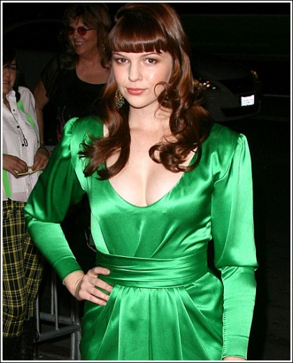 Amber Tamblyn Drops Some Impressive Cleavage