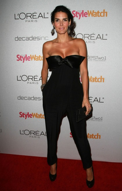 Angie Harmon's bust: enhanced or just a bustier'
