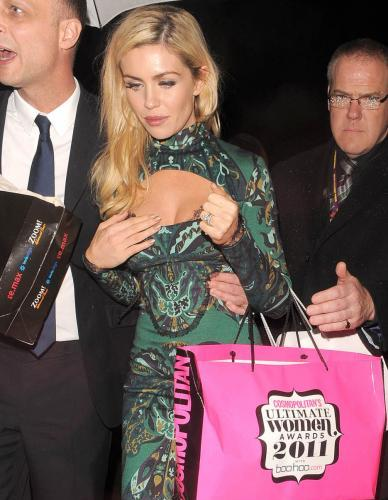 Abigail Clancy's Peek-A-Boo Cleavage