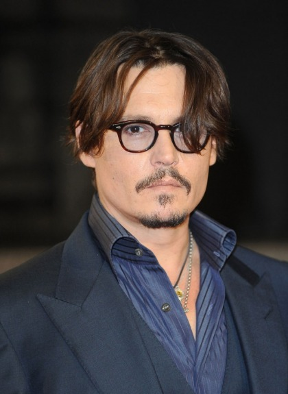 Johnny Depp at the Rum Diary London premiere: back to his old hot self?