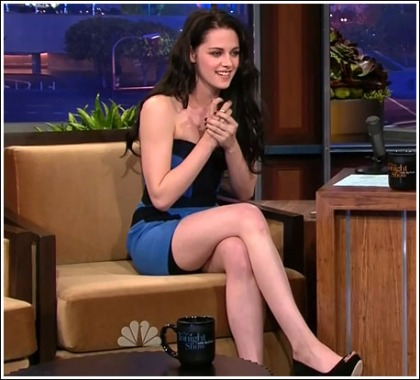 Kristen Stewart Gets Leggy On Leno