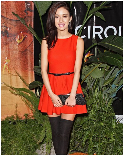 Christian Serratos Shows Off Her Naughty Little Legs