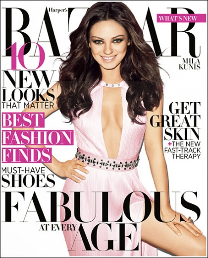 Mila Kunis Drops Some Impressive Cleavage In Harper's Bazaar