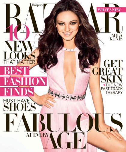 Mila Kunis covers Harper's Bazaar: 'I don't go out very often, I prefer to stay home'