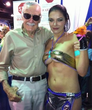 Adrianne Curry Flashes Stan Lee