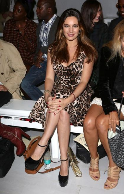 Kelly Brook: Front Row Fabulous at Mark Fast LFW Show