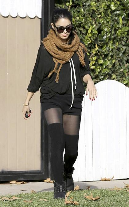 Vanessa Hudgens. and her sister Stella headed to a North Hollywood, CA dance studio on Wednesday (January 9) .