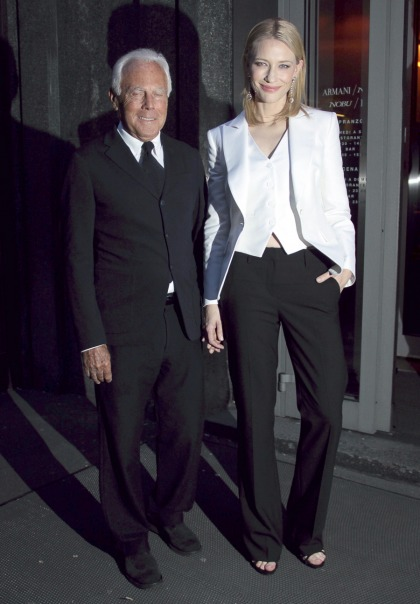 Cate Blanchett wears Armani, hangs out with Armani in   Milan: stunning & lovely?