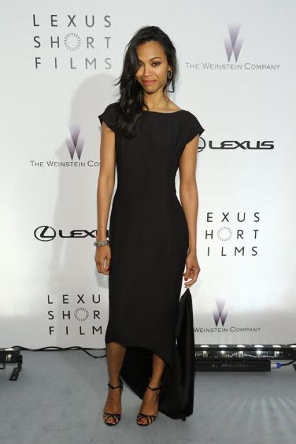 Zoe Saldana Checks Out Short Films at Cannes