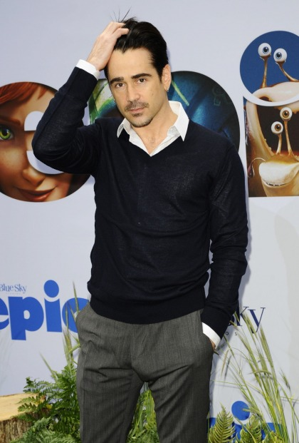 Colin Farrell goes 'Full Hamm' at the premiere of children's movie: gross or sexy'