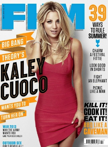 Kaley Cuoco Gorgeous At FHM UK July 2013