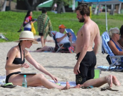 Alexis Bledel Bikini Candids on the Beach in Hawaii