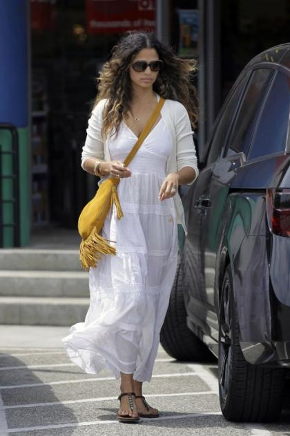 Camilla Alves' Day Out with Livingston