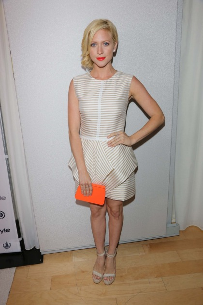 Celeb Trend to Try:  Brittany Snow's Neutral Stripes
