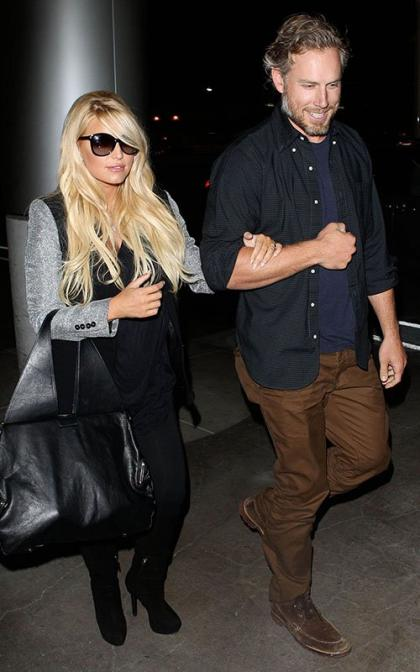 Jessica Simpson & Eric Johnson Jet Out of LAX