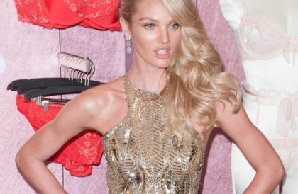 Candice Swanepoel Forgot To Wear Her Bra
