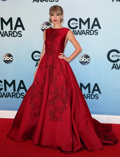 Taylor Swift in a gigantic Elie Saab ball gown at the CMAs: overkill or gorgeous?