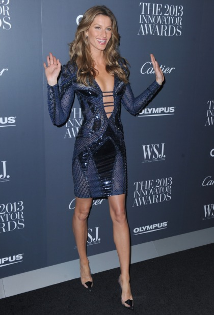 Gisele Bundchen in Atelier Versace at the WSJ Awards: gorgeous or basic?