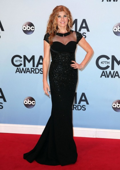 Connie Britton in sparkly Georges Hobeika at the CMA Awards: gorgeous or prom?