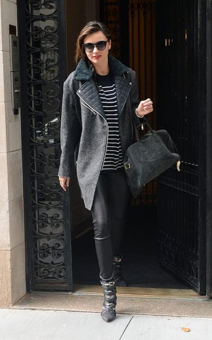 Miranda Kerr Gets on Another Flight at JFK