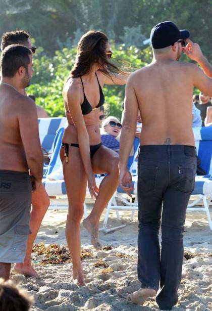 Alessandra Ambrosio Takes it All off in Miami
