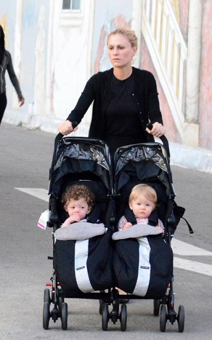Anna Paquin Steps Out with Double Duty Cuties in LA