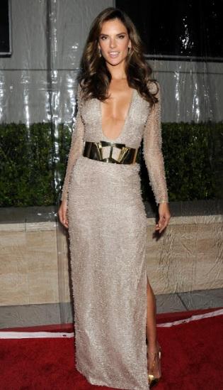 Alessandra Ambrosio Sexy as Hell In Hugo Boss At amfAR Inspiration Gala LA