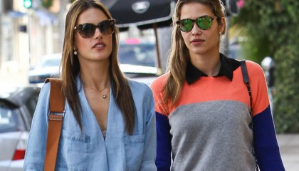 Alessandra Ambrosio Takes A Stroll With Her Hot Friend!