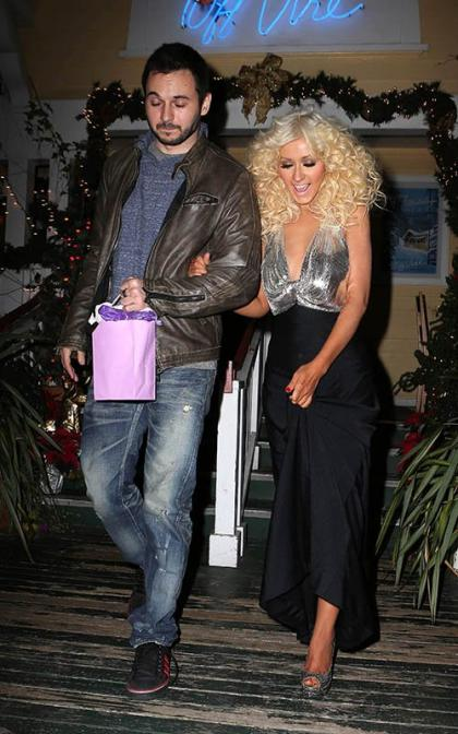 Christina Aguilera Grabs Dinner with Matthew Rutler After