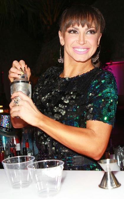 Karina Smirnoff Celebrates New Year's at Pop the Cork Party
