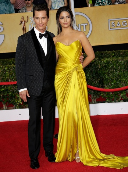 Matthew McConaughey & Camila Alves: worst-dressed couple of the SAGs?