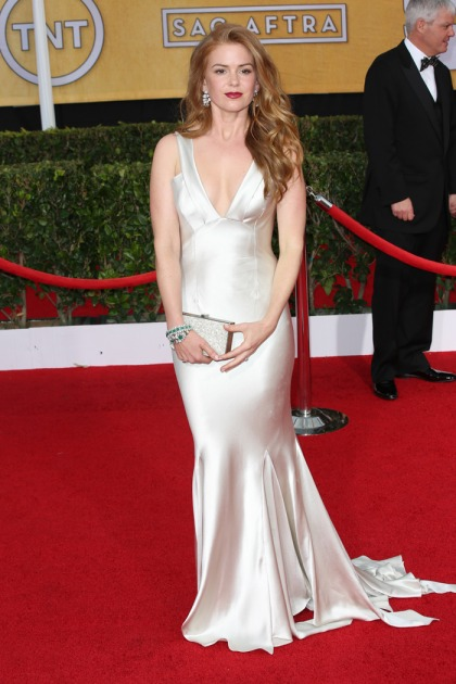 Isla Fisher & a bouquet of white dresses at the SAGs: who wore it best?