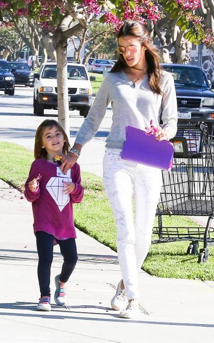 Alessandra Ambrosio Walks Her Precious Valentine to School