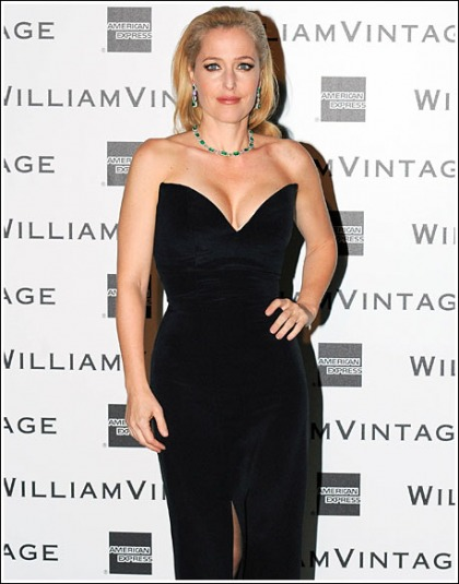 Gillian Anderson Returns And Busts Out The Cleavage