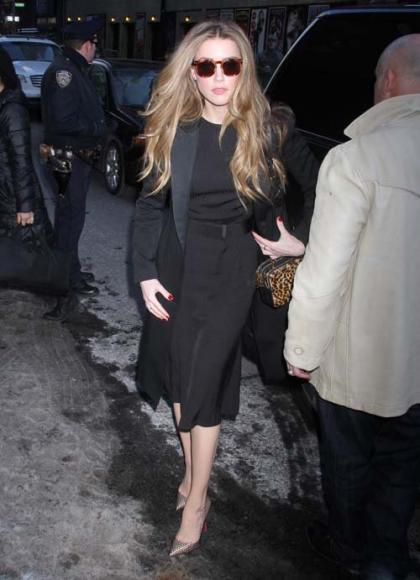 Amber Heard Visits the