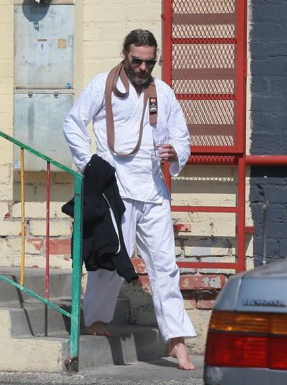 Joaquin Phoenix looks furry & weird in his karate gear: will he go to the Oscars?